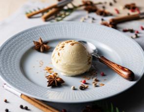 バニラアイス、チョコアイスの写真