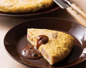 トリュフ香る茸のオムレツ デミグラスソース