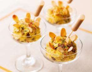 パンプキンとナッツ、ドライフルーツのサラダの写真