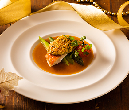 金目鯛のポアレ アルベールソース